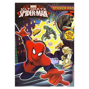 Official-Licensed-Marvel-Ultimate-Spiderman-Sticker-amp-Scenes-Pad-Super-Hero