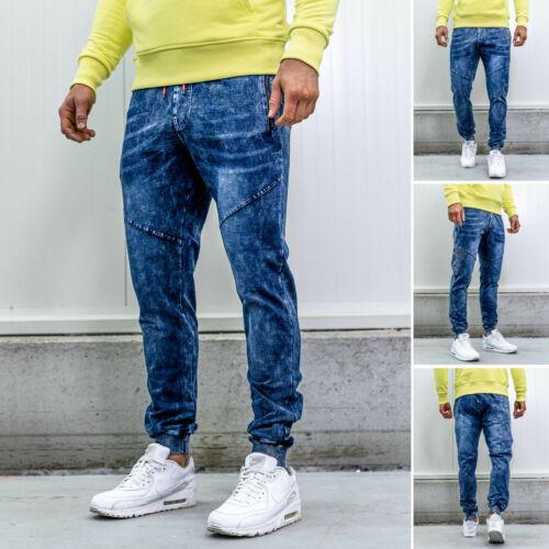 Jogger Freizeithose Denim Jeans Trainingshose Sport Herren BOLF 6F6 Classic