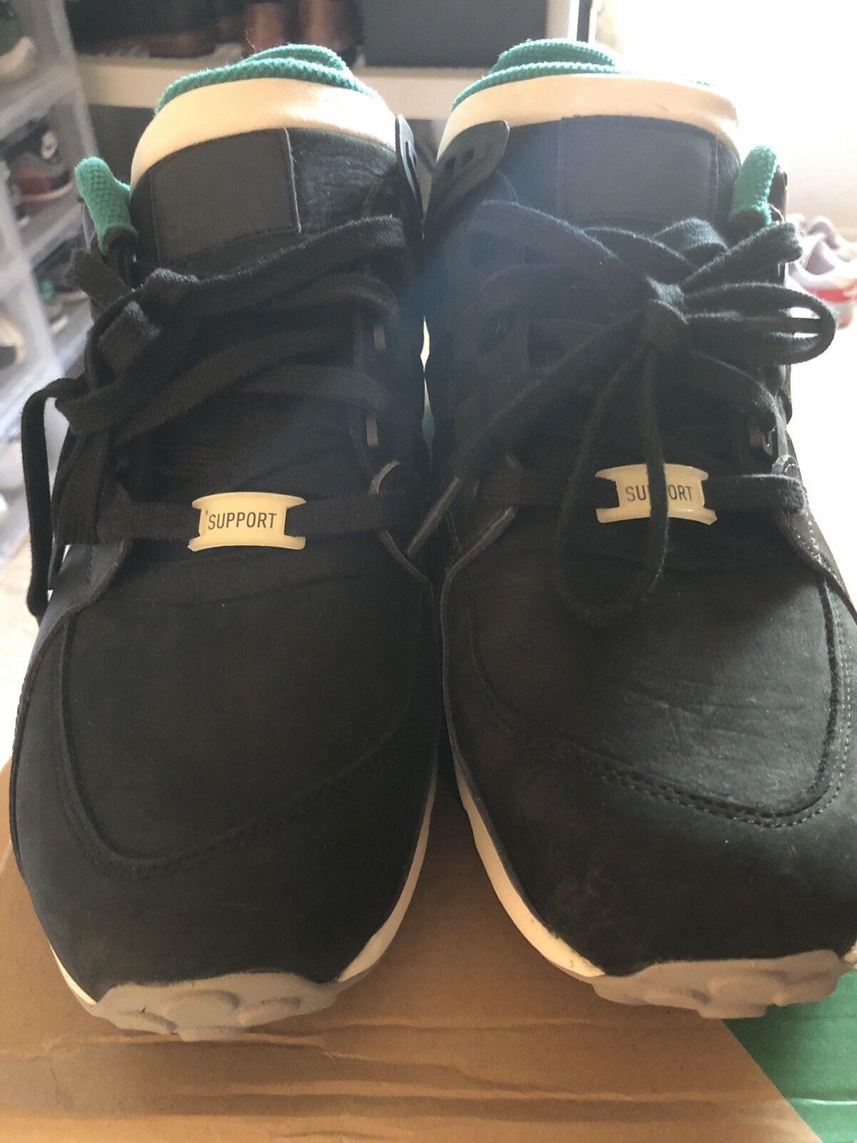 Adidas Originals EQT Running Support 93-C Black Green White White White Size 12.5 5ee37b