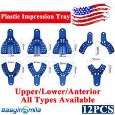 Dental Perforated Plastic Impression Trays Upperloweranterior Sml 12pcspack