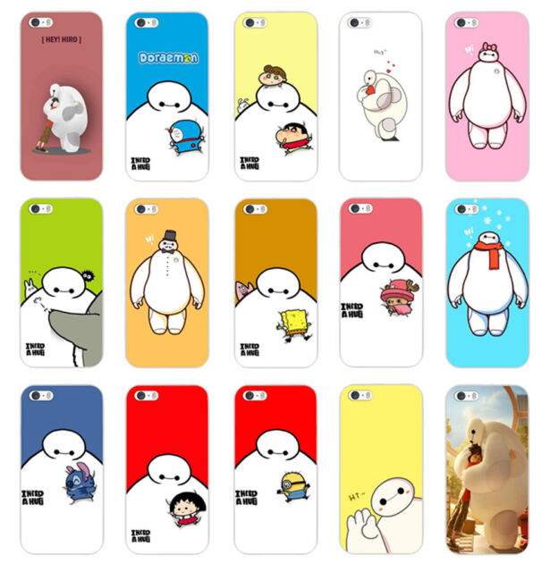 Cute Big Hero Baymax Pattern Hard Back Case Cover Skin For iPhone 4S 5 5S 5C 6