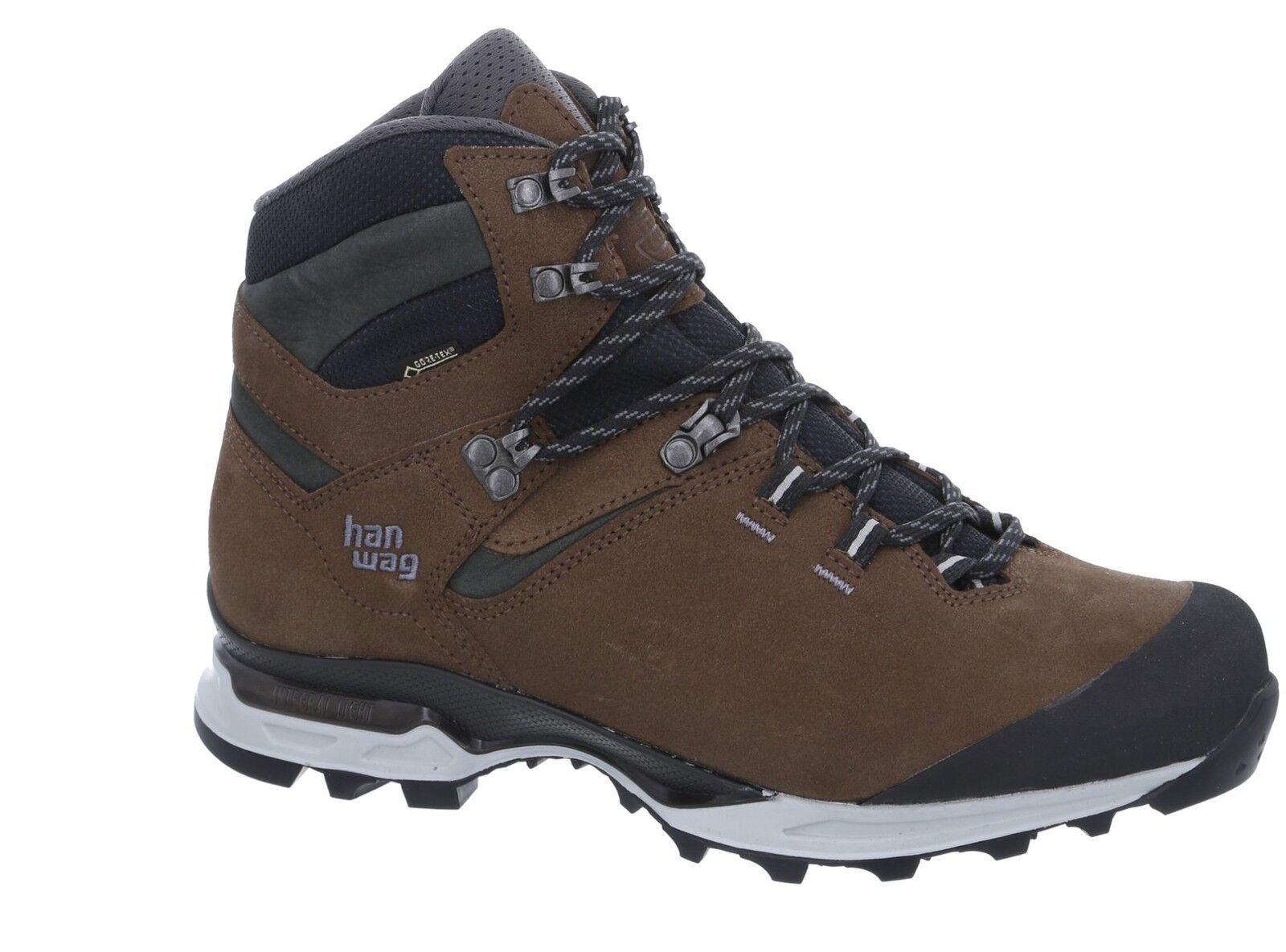 Hanwag montaña zapatos Tatra light GTX talla 8,5 - 42,5 marrón Anthracite