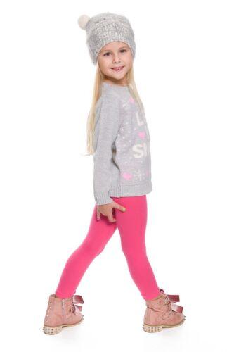 Kinder Mädchen Einfarbig Baumwolle Dick Lange Leggings Party Hose Alle Alter