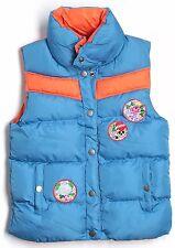 New Ed Hardy Men Vest Jacket Puffer Bubble Jacket  Blue Orange Top S Small Shirt