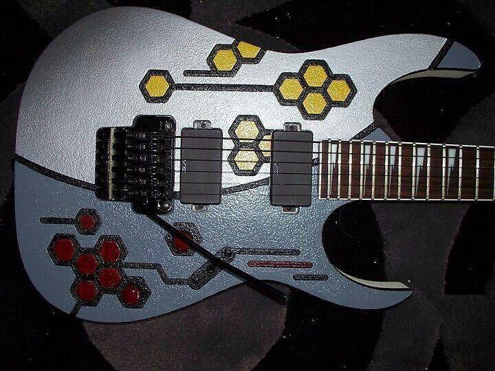 Ibanez RG420EG BWH Beehive Weiß Custom Painted Guitar Guitar Guitar 3d087f