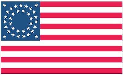 USA 35 Stars Round 3x5 Feet Flag 35 Stars Round Flag