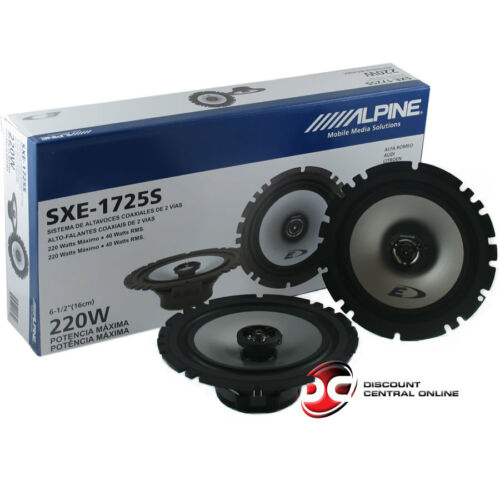 """BRAND NEW ALPINE 6.5-INCH 2-WAY CAR AUDIO COAXIAL SPEAKERS 6-1//2/"""" PAIR"""