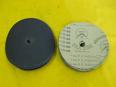 "50 NEW 7/"" x 7//8/"" hole x 40 grit ABRASIVE DISCS sander SANKYO FUJI STAR JAPAN S//C"