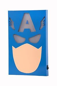 The Avengers Captain America LED Wall Light Globox Marvel Comics New LIGHTS UP!