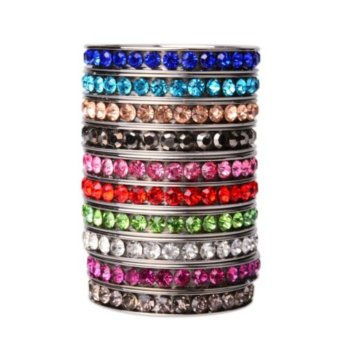 500pcs strass couleur mix bagues en acier inoxydable Wholesale Fashion Jewelry Lots