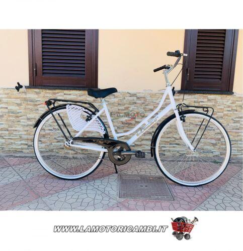 "Bici bicicletta 26/"" Olanda da donna  passeggio Bianca nera"
