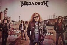"""MEGADETH """"GROUP STANDING IN TRAIN YARD"""" POSTER FROM ASIA - Heavy Metal Music"""