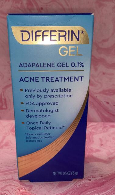 2x Differin Adapalene Gel 0 1 Retinoid Acne Treatment 15 G Exp