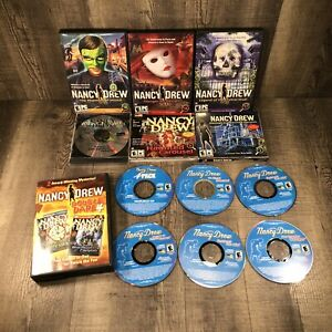 Nancy Drew PC Games Lot Of 12 Titles All EUC + 4 Pack Manuals CD Her Interactive