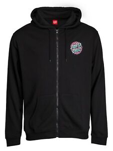 SANTA-CRUZ-CHECK-WASTE-DOT-ZIP-HOODY-BLACK