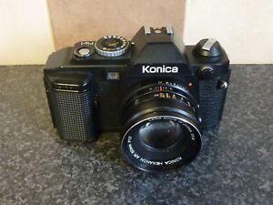 KONICA-FS-1-SLR-CAMERA-AR-50mm-F1-7-LENS-SHUTTER-TESTED-OK-VGC-FOR-AGE