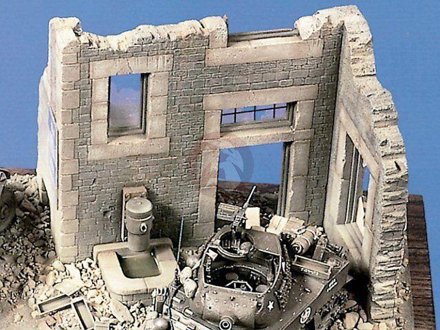 Verlinden 1 35 Noruomody Farm costruzione Ruin Section WWII [Plaster Resin] 189