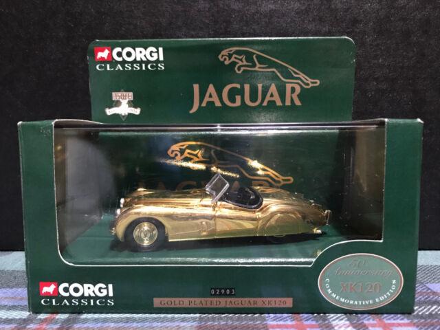 CORGI 02903  - GOLD PLATED JAGUAR XK120  50th ANNIVERSARY - RARE