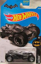 Hot Wheels CUSTOM BATMAN ARKHAM KNIGHT BATMOBILE 4/5 Real Riders Rubber Wheels