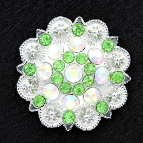 """Western Horse Saddle Tack strass cristal Concho Screw Back Conchos 1-1//2/"""""""