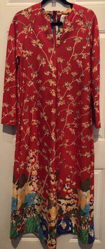 Loungees Dress 100% Cotton Multi-Color Floral Pock