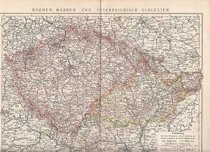 C 1890 Czech Rep Bohmen Mahren Austria Silesia Poland Germany