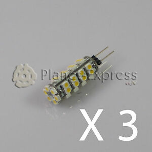 3-x-Bombilla-G4-38-Led-SMD-Blanco-Frio-190-Lumen-12V-DC-caravana-barco-coche