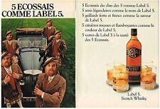 PUBLICITE ADVERTISING  1982   LABEL 5 whisky (2 pages)