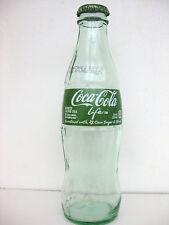 COKE COCA COLA STEVIA Green Glass Bottle Empty with Cap