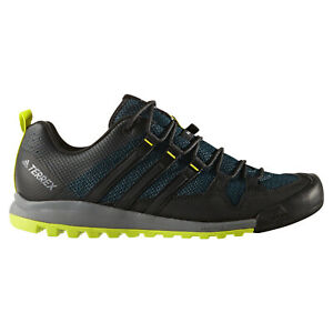 Adidas-HOMBRE-Exterior-Terrex-Solo-Alpinismo-Caminar-Correr-Verde-Azul-Nuevo