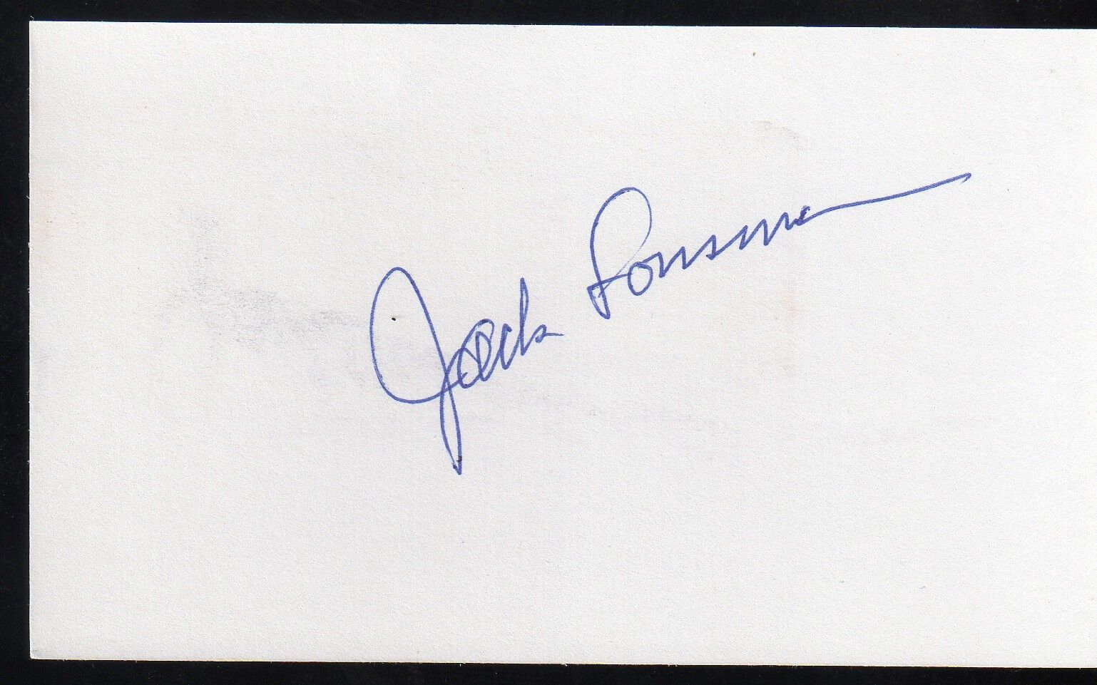 s l1600 - JACK LOUSMA Signed Index Card - NASA Astronaut Autograph Auto