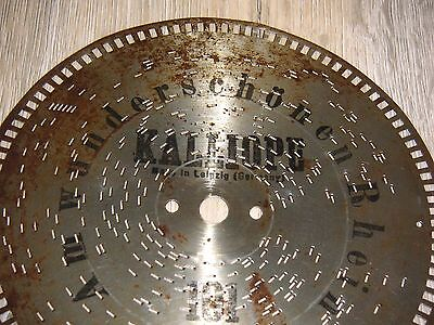 Am Wunderschönen Rhein Kalliope Blechplatte 19,5cm Platte Für Außenantrieb Discs Modischer (In) Stil;