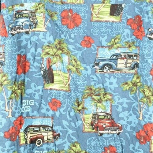Floral Classic 4x Camp Big Woody Hibiscus Palms shirt Hawaiian Dogs wqnq0xTf