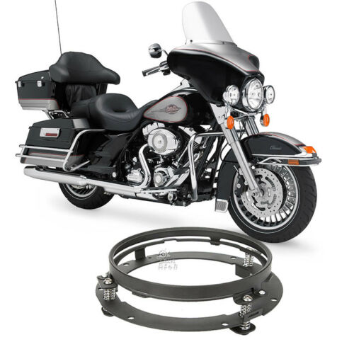 """7/"""" Black LED Headlight Mounting Ring For Harley Street Electra Glide Touring"""