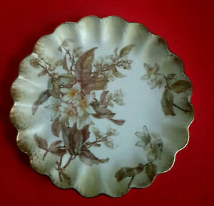 Antique Doulton Burslem Plate 1885 Artist Initials EUC+