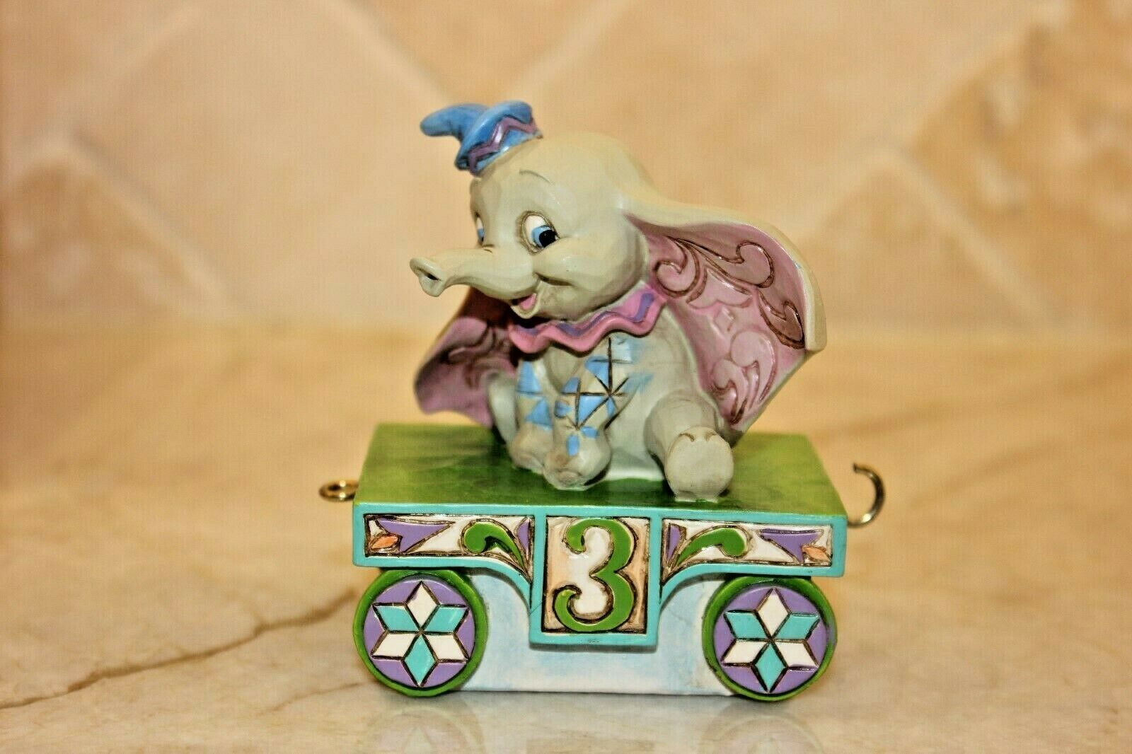 Jim Shore DISNEY Traditions Birthday Train DUMBO Age 3 Figurine 4043657 New MIB