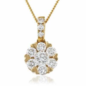 Diamond daisy pendant 035ct f vs in 18ct rose gold with diamond image is loading diamond daisy pendant 0 35ct f vs in aloadofball Choice Image