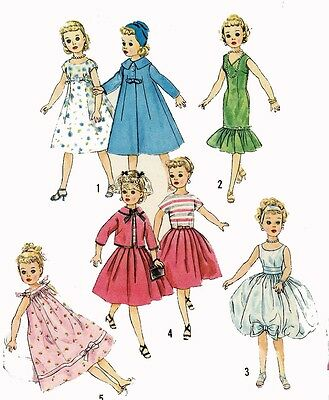 Vintage Doll Clothes Pattern 2745 for 18 in Toni Lil Miss Revlon Dollikin Ideal