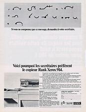 PUBLICITE ADVERTISING 094 1967 RANK XEROS 914 copieur