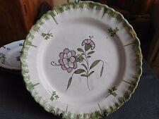 Piatto ceramica antico XVIII 19esimo decoro floreale origine tbd