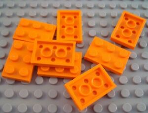LEGO Lot of 8 Orange 1x4 Flat Building Plate Pieces