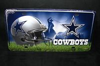 Dallas Cowboys Metal Aluminum Car License Plate Tag...