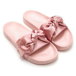 Details about Puma Fenty Pink Satin Bow Slides Sandals Shoes 5.5 6 NEW SOLD  OUT!!