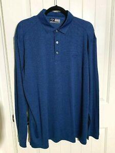 Callaway-Golf-Polo-Shirt-Opti-Dri-Blue-Micro-Stripe-Long-Sleeve