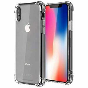 Coque iPhone X, Coque iPhone XS, Jenuos Transparent Silicone Doux Souple Extrêm