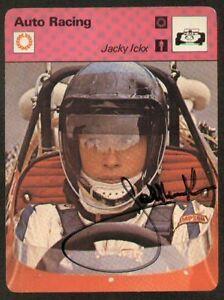 Jacky Ickx Signé Dédicacé 1977 Sportscaster Carte