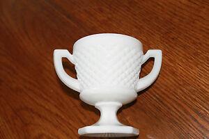 Westmoreland-English-Hobnail-Milk-Glass-Hexagonal-Footed-Open-Sugar-Bowl