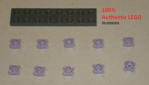10x LEGO NEW 1x1 Lavender Plate Round Flower with Tabs 6170305 Brick 33291