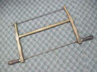 antiuqe bowsaw bucksaw buck bow saw wood cutting hand tool crosscut original