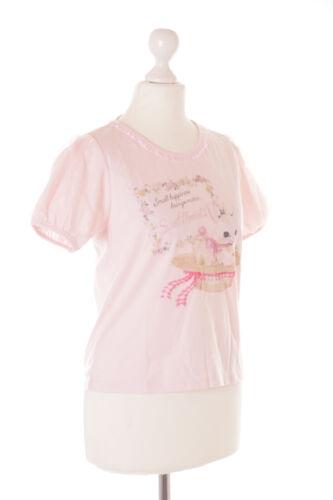 TP-138-1 Rosa Hase Rabbit Bunny Blumen Rüschen Spitze T-Shirt Kawaii Puffärmeln